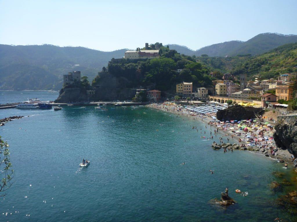 Monterosso beach view