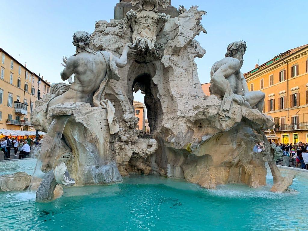 Quattro Fiumi fountain in piazza navona