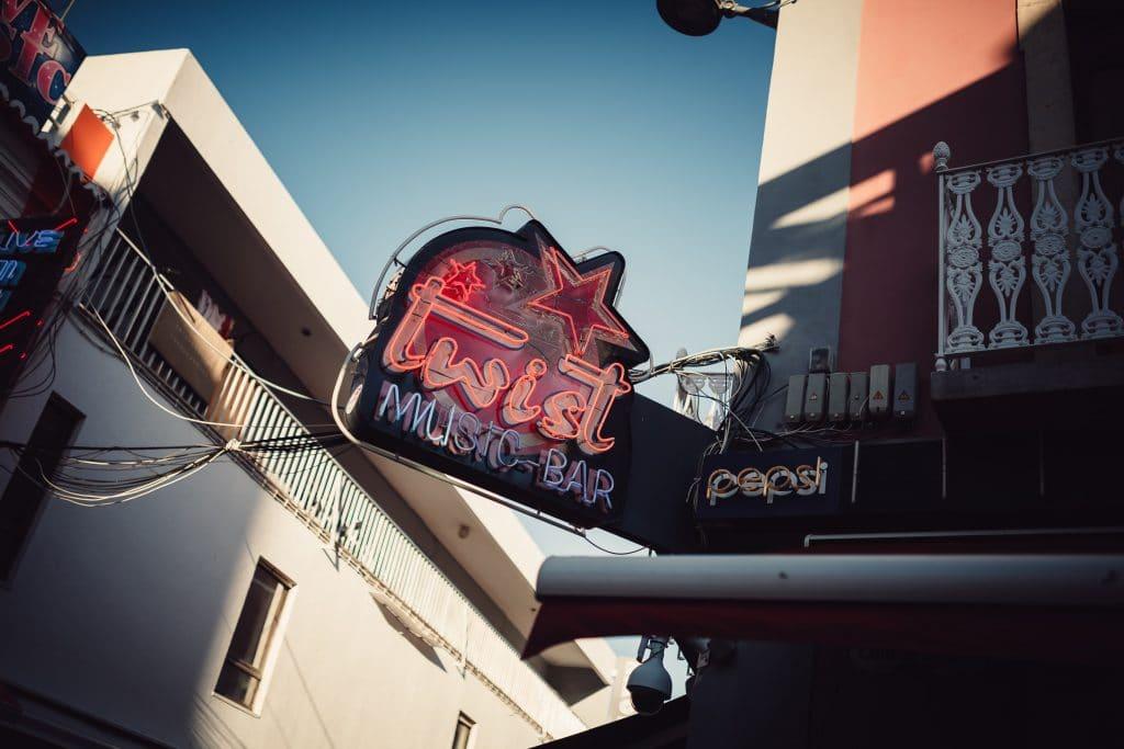a bar on the strip albufeira