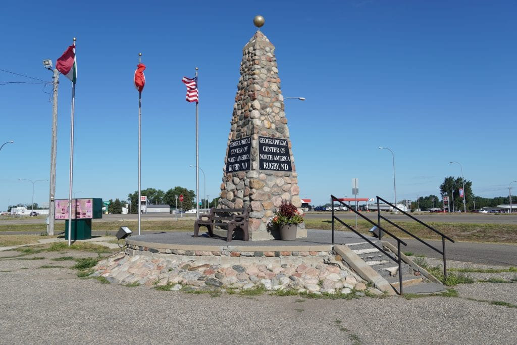 center of north america monument in rugby north dakota