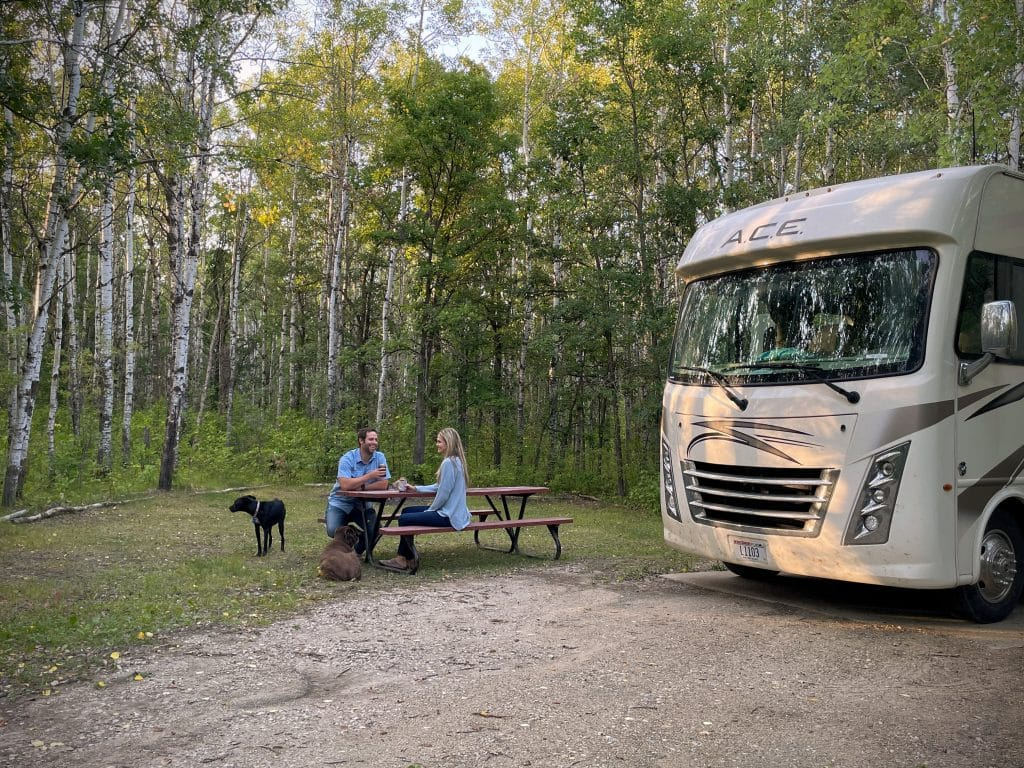 Camping at the international peace gardens